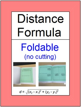 Distance & Midpoint Formula - 2 Foldables & (Smartboard) I