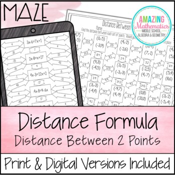 Distance Formula Maze