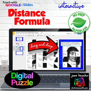 Distance Formula Famous Mathematician Puzzle with GOOGLE S