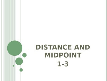 Distance & Midpoint