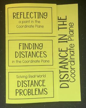 Distance on the Coordinate Plane (Foldable)