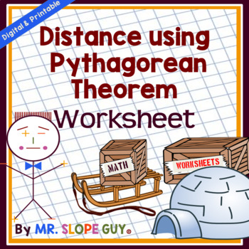 Distance using the Pythagorean Theorem PDF Common Core 8.G