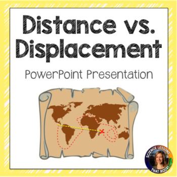 Distance vs. Displacement SMART notebook presentation
