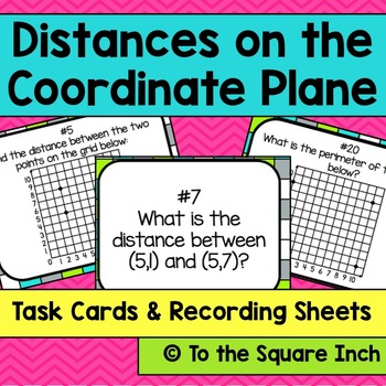 Distances on the Coordinate Plane Task Cards