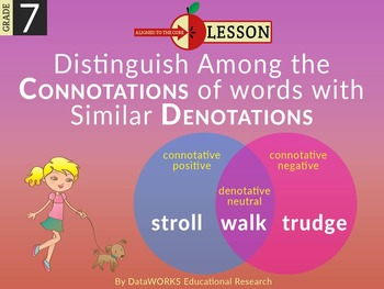Distinguish Among the Connotations of Words with Similar D