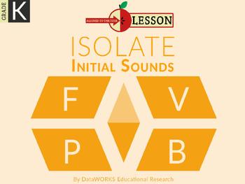 Distinguish Beginning Sounds - F  V  P  B