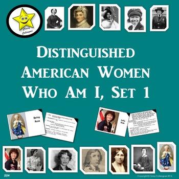Distinguished American Women Who Am I, Set 1