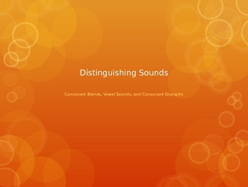 Distinguishing Sounds Game