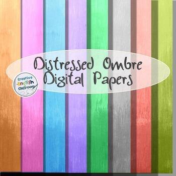 Distressed Ombre Digital Paper