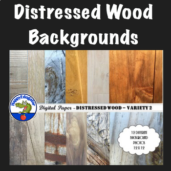 Distressed Wood - Rustic Wood Backgrounds for Shabby Chic