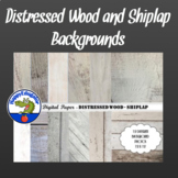 Distressed Wood - Whitewashed Shiplap Backgrounds for Shabby Chic