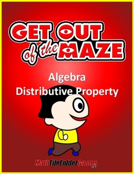 Distributive Property Mazes (Fun Worksheets)