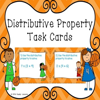 3rd Grade Distributive Property of Multiplication Task Car