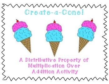 Distributive Property Create-a-Cone