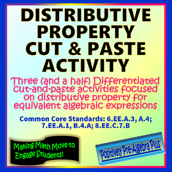 Distributive Property Cut and Paste Activity