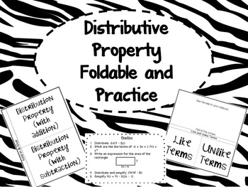 Distributive Property Foldable and Practice