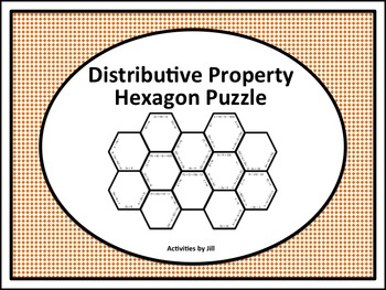 Distributive Property Hexagon Puzzle