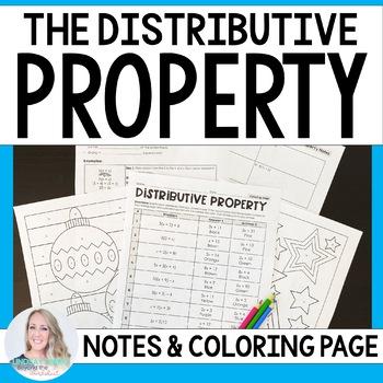 Distributive Property Coloring Page