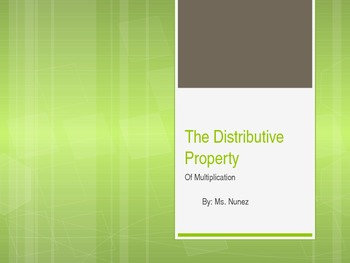 Distributive Property Powerpoint