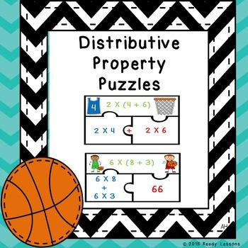 3rd Grade Distributive Property of Multiplication Game Puz