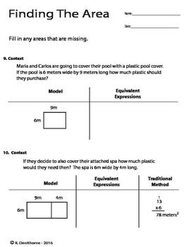 Distributive Property through Area Models