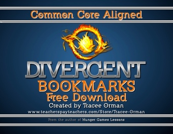 Free Divergent Chapter Bookmarks Reading Log