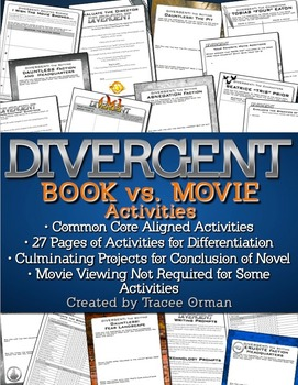 Divergent movie and book similarities