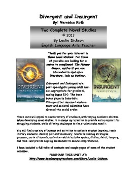 Divergent and Insurgent Novel Studies