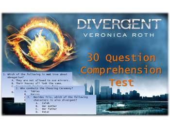 Divergent by Veronica Roth - Comprehension Test