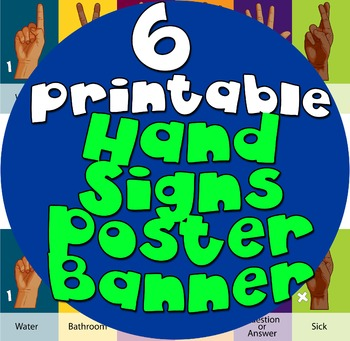Diverse Black Brown Hand Sign Poster Banner Colorful Diver