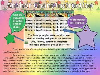 Diversity and Basic Principles Song Anchor Chart Chant Aud