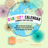 Diversity Calendar of Multicultural Holidays ~ Academic Ye