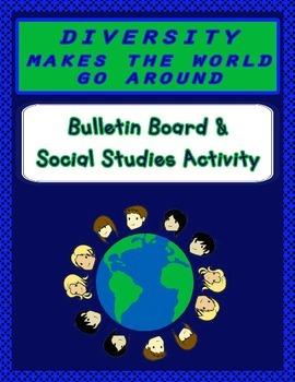 Back to School Bulletin Board - Diversity Makes the World