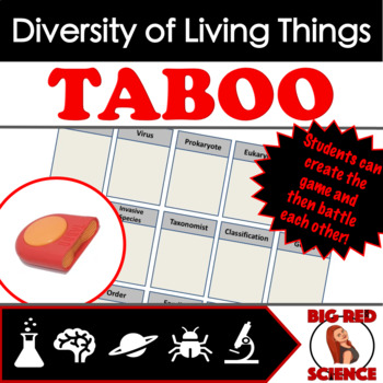 Diversity of Living Things Taboo Review Game