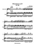 Divertimento in D K.136 Clarinet solo