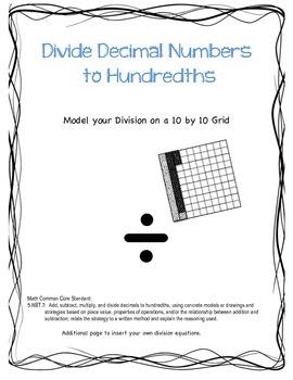 Divide Decimal Numbers with Models