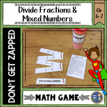 Dividing Fractions and Mixed Numbers ZAP Math Game
