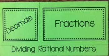 Divide Rational Numbers (Decimals/Fractions)