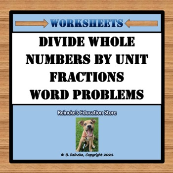 Worksheets Dividing Whole Numbers Worksheets divide whole numbers by unit fractions word reinckes problems 2 wo