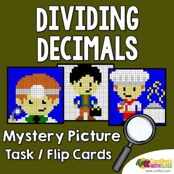Decimal Division Mystery Pictures, Dividing Decimals Task