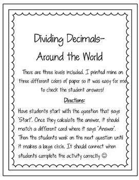 Dividing Decimals Around the World