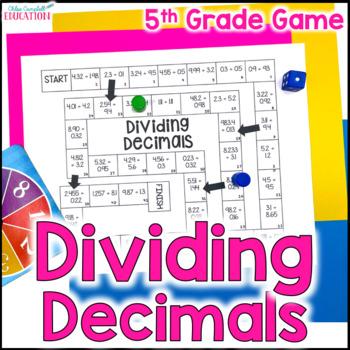 Dividing Decimals Board Game