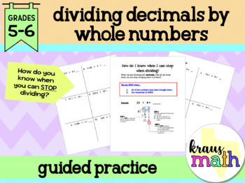 Dividing Decimals: Guided Notes & Practice