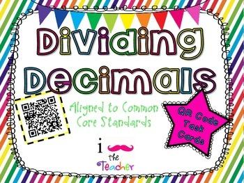 Dividing Decimals **QR CODE Task Cards**