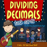 Dividing Decimals Task Cards {Multiple Choice, Standard Fo
