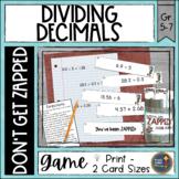 Dividing Decimals ZAP Math Game
