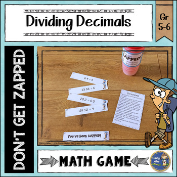 Dividing Decimals ZAP Math Game
