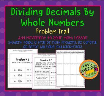 Dividing Decimals by Whole Numbers Problem Trail
