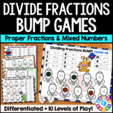 Fraction Division BUMP: 10 Dividing Fractions Games {5.NF.