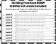 Dividing Fractions Games: 10 Differentiated Dividing Fract